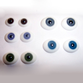 FLAT GLASS PAPERWEIGHT EYES
