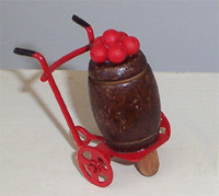Apple Barrel Cart