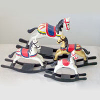 Traditional Wooden Rocking Horses