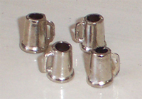 Set of 4 Metal Beer Mugs