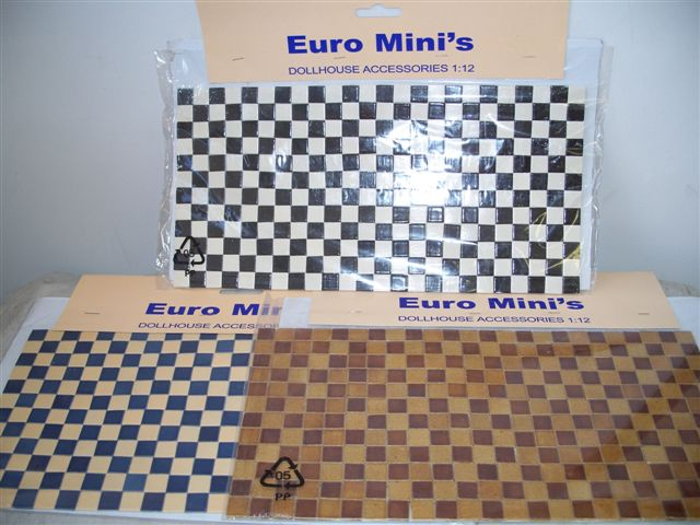 Real mini ceramic tile sheets