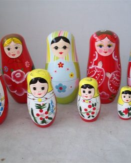Five Piece Wooden Stacking Dolls