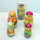 Two Piece Wooden Stacking Dolls