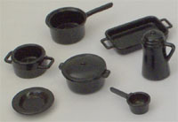 Black Kitchen Set