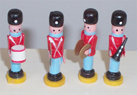 Set of 4 Wood Soldiers