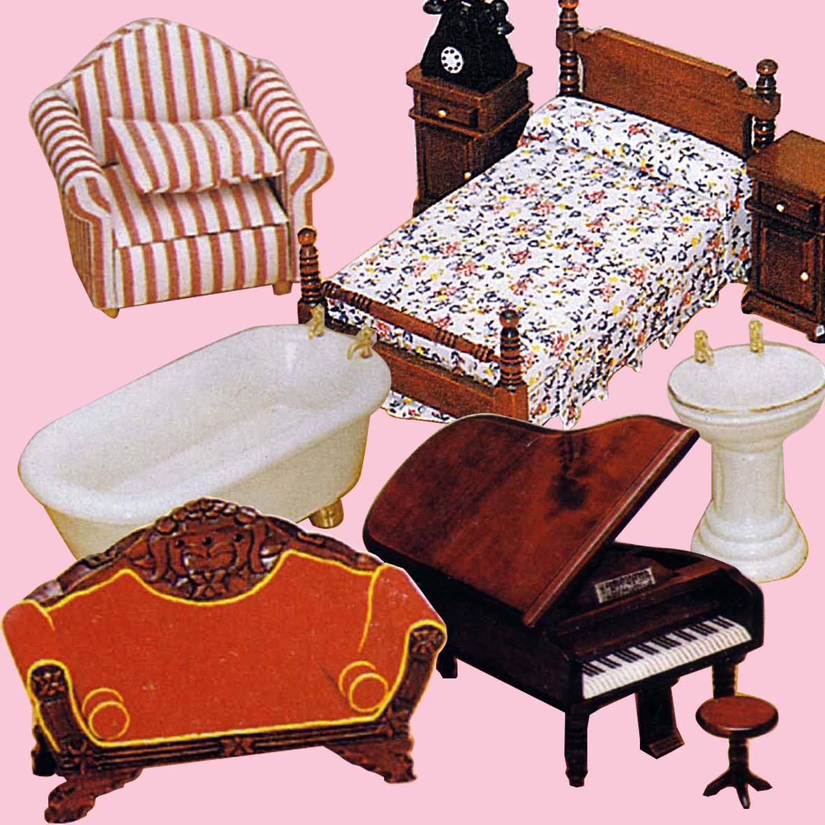 Doll House Furnishings - Sets & Singles